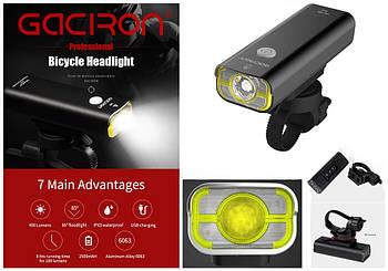Велосипедный фонарь GACIRON V9C-400 со встроенным аккумулятором (400LM, 2500mAh, USB, IPX3) передняя фара