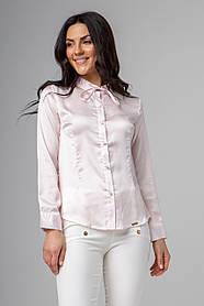 Элегантная блуза с воротником-бантиком с пуговичками-жемчугами в 3 нежных расцветках в размерах S, M и L.