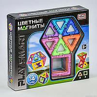 """Конструктор магнитный 14 деталей, 2425  """"Play Smart"""",  6 моделей, в коробке, фото 1"""