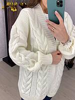 Модный женский вязаный кардиган 42-48 р 4 цвета, фото 1