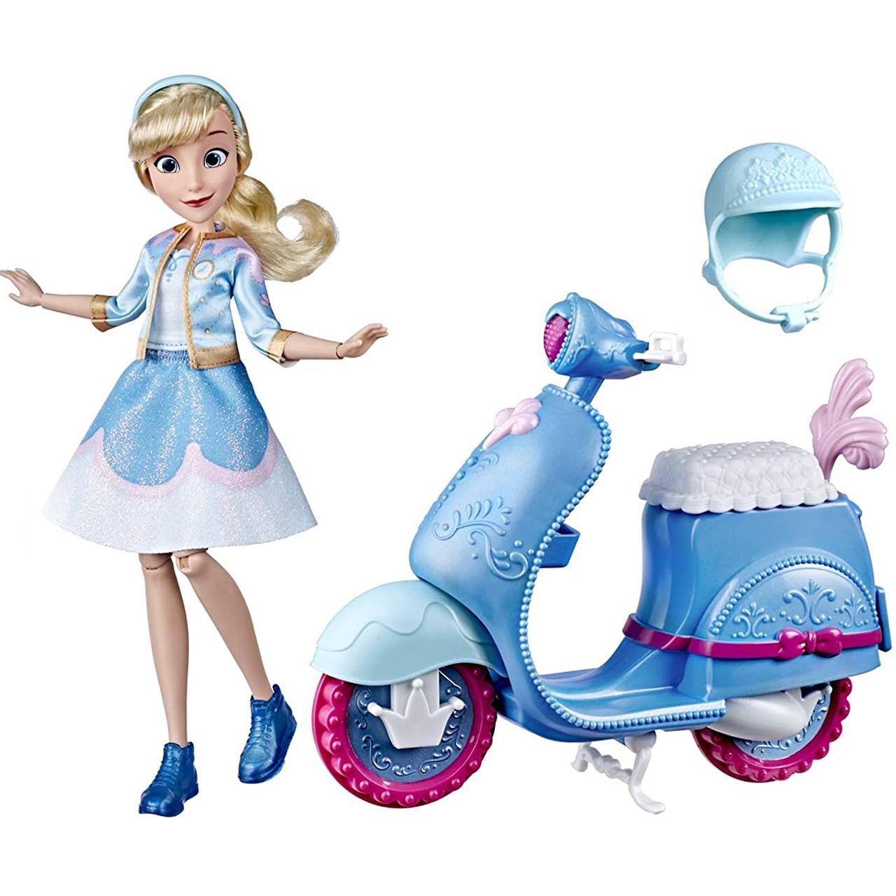 Кукла Золушка на скутере Disney Princess Hasbro E8937