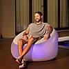 Надувное кресло Bestway, 102х97х71 см, с LED подсведкой, белое, фото 4