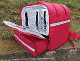 Термосумка для доставки їжі, суші. Рюкзак для піци, нижнє відділення 50*50. Каркасний, фото 3