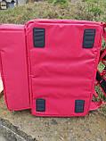 Термосумка для доставки їжі, суші. Рюкзак для піци, нижнє відділення 50*50. Каркасний, фото 7