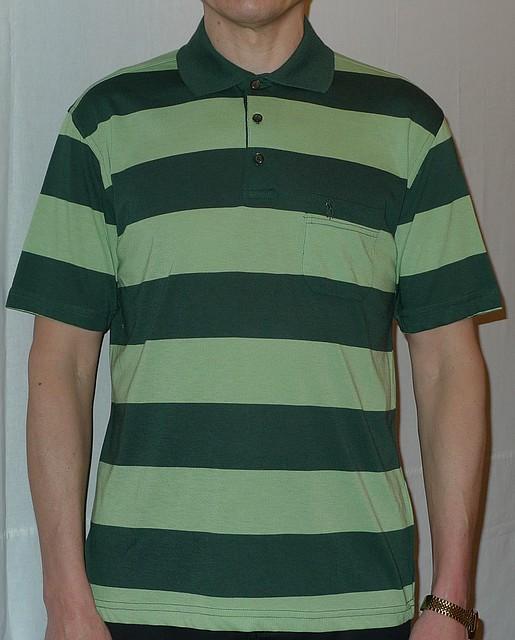 Мужская рубашка зеленого цвета