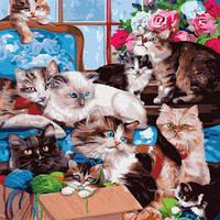 Картина по номерам Кошкин дом, размер 40*50 см, зарисовка полная, на подрамнике