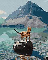 """Картина по номерах """"Кіт в горах"""" (GX32121)"""