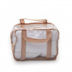 Набор из 3 прозрачных сумок в роддом для мамы и малыша Twins (S+M+L), бежевый