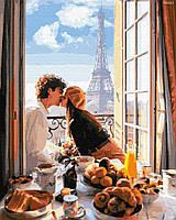 """Картина по номерах """"Побачення в Парижі"""" (GX32317)"""