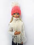 Одяг для ляльок Барбі - шапка і шарфік, фото 7