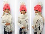Одяг для ляльок Барбі - шапка і шарфік, фото 6