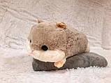 Мягкая игрушка с пледом хомяк Хома лежачий  (игрушка+подушка+плед) 110*160 см, фото 3