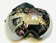 Очки горнолыжные SPOSUNE зеркальные серебристые (двойные линзы), фото 1