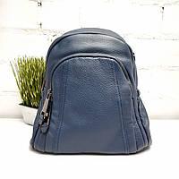 Синий рюкзак натуральная кожа Арт.990011 blue V.T.R. Італія, фото 1