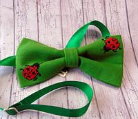 Вышитая зеленая бабочка, фото 1