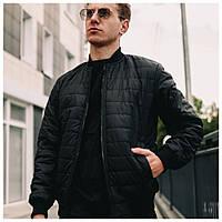 Мужская весенняя куртка черная, парка осенняя демисезонная (Турция)