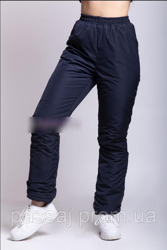 Зимние спортивные штаны из плащевки на флисе, теплые 50