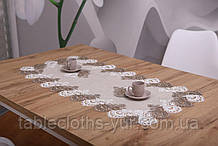 Серветка на стіл Льон 50-100 «Premium» Коричнева