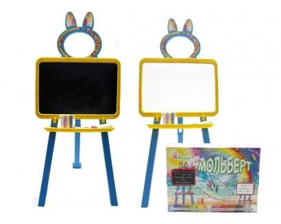 """Доска для рисования, мольберт ТМ """"Долони"""" магнитная Желто-голубая (013777/1)"""