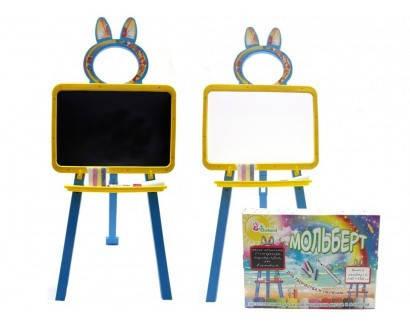 """Доска для рисования, мольберт ТМ """"Долони"""" магнитная Желто-голубая (013777/1), фото 2"""