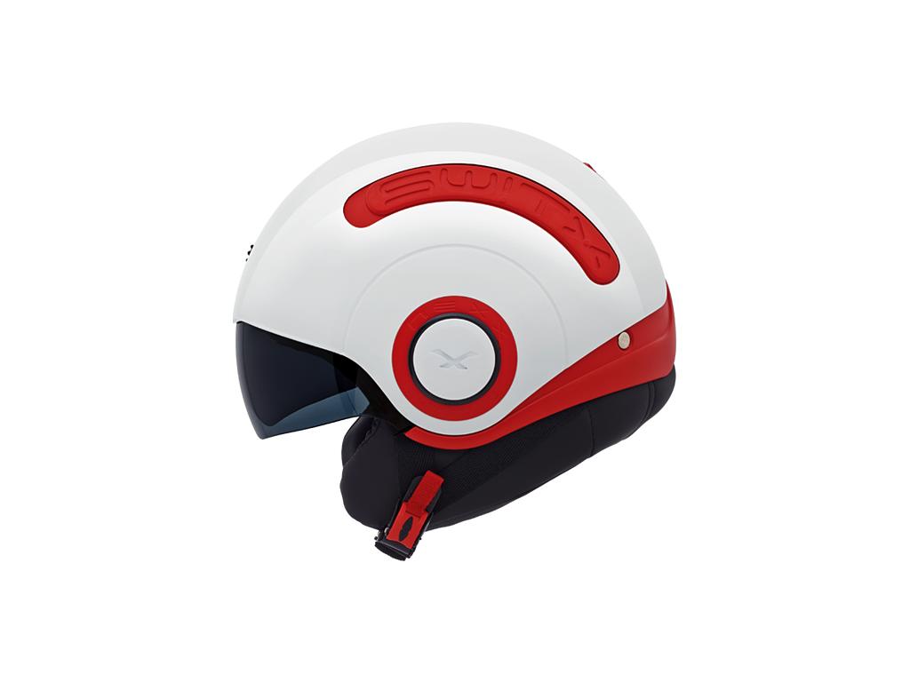 Мотошлем Nexx SX.10 White-Red M