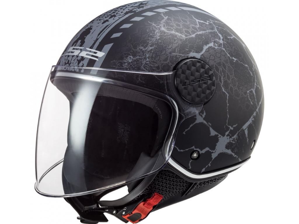 Мотошлем LS2 OF558 Sphere Lux Snake Matt Black-Titanium XL
