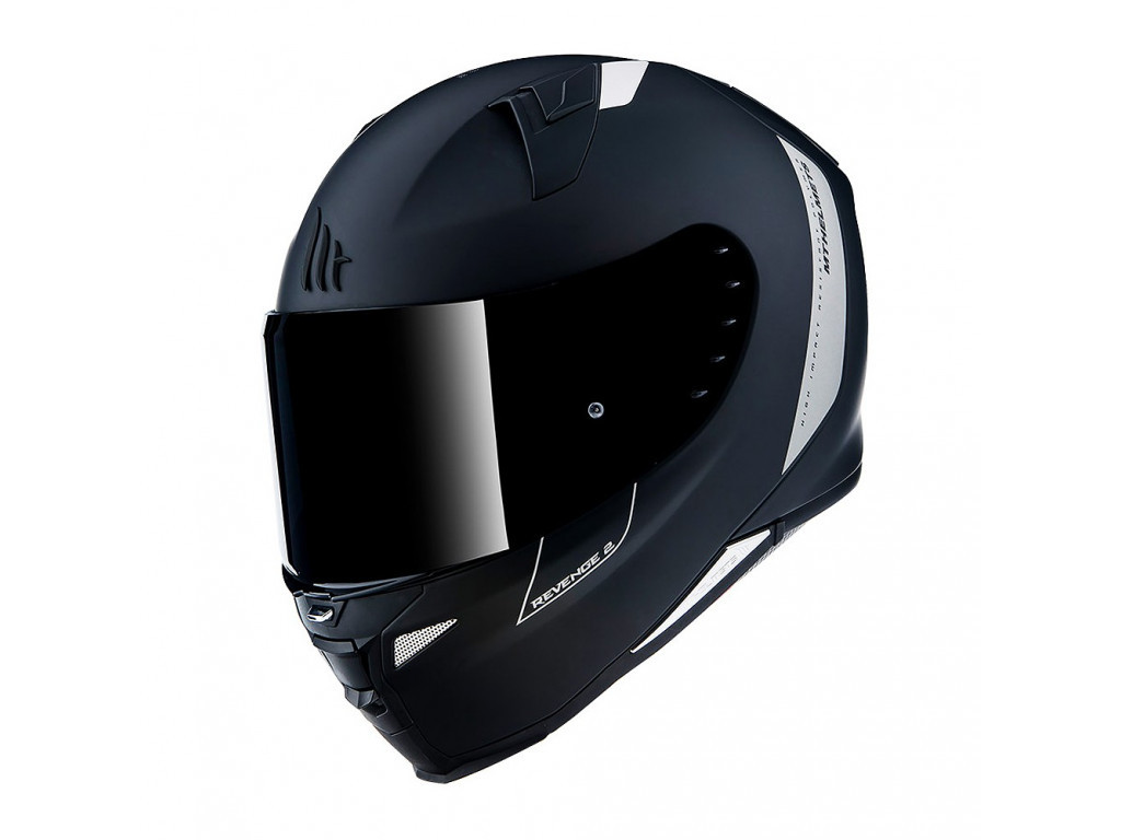 Мотошлем MT Revenge 2 Solid Black Mat 2XL