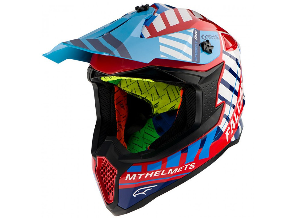 Мотошлем MT Falcon Energy Blue-Red-White L