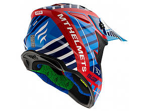 Мотошлем MT Falcon Energy Blue-Red-White L , фото 2