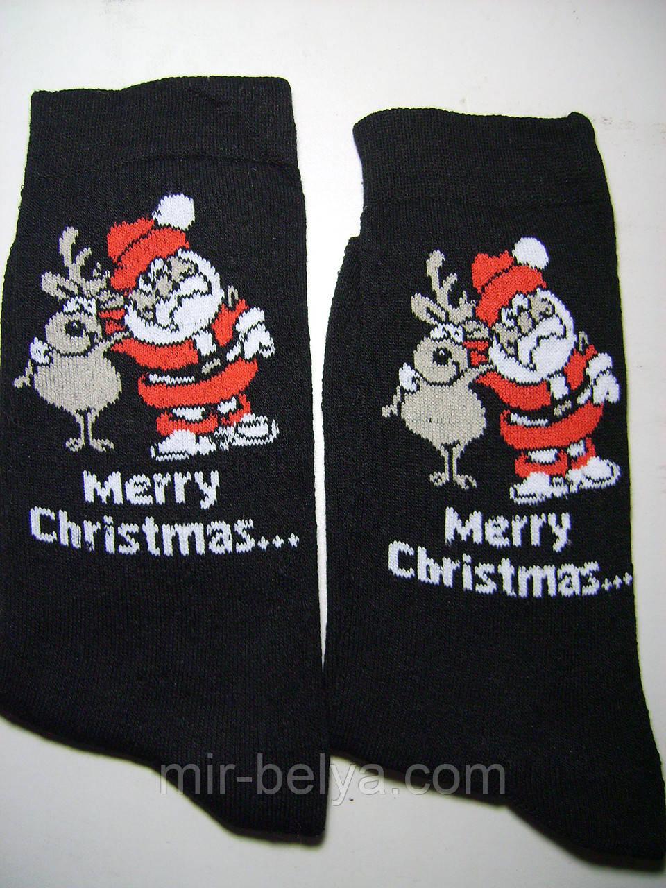 Мужские новогодние носки с приколом