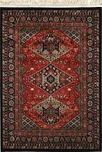 Червоний бельгійський килим з м'якої і приємної віскози