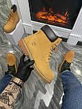 Мужские / женские зимние ботинки Timberland Ginger Fur, коричневые мужские ботинки тимберленд зимние женские, фото 2