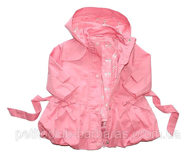 Детская куртка с подстежкой ASIA для девочки розовая р. 80-104 см (QuadriFoglio, Польша)