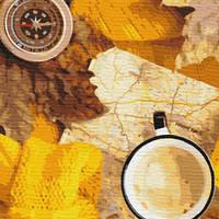 Картина по номерам Флетлей осеннего путешественника, размер 40*50 см, зарисовка полная, на подрамнике, фото 1