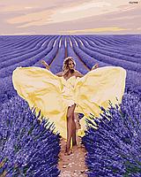 """Картина по номерах """"Красуня та лавандове поле"""" (GX37958)"""