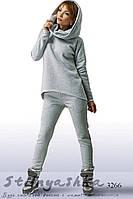 Женский теплый костюм Стиляга серый