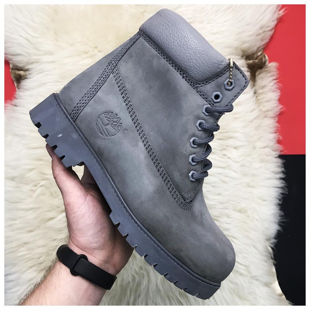 Чоловічі / жіночі зимові черевики Timberland Gray Fure Premium, сірі чоловічі черевики тімберленд зимові