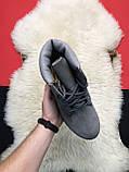 Чоловічі / жіночі зимові черевики Timberland Gray Fure Premium, сірі чоловічі черевики тімберленд зимові, фото 2