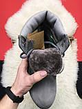 Чоловічі / жіночі зимові черевики Timberland Gray Fure Premium, сірі чоловічі черевики тімберленд зимові, фото 3
