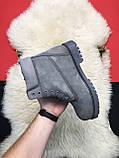 Чоловічі / жіночі зимові черевики Timberland Gray Fure Premium, сірі чоловічі черевики тімберленд зимові, фото 7