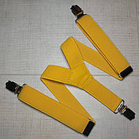 Подтяжка детскаяY однотонная ( желтая)унисекс 25 мм - купить оптом в Одессе