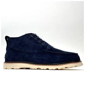 Мужские зимние Ugg Men's Neumel Boot Blue, мужские синие замшевые угги ньюмел зимние ботинки