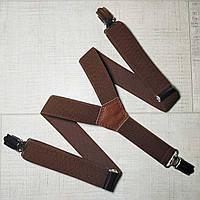 Подтяжка детскаяY однотонная ( коричневый)унисекс 25 мм - купить оптом в Одессе