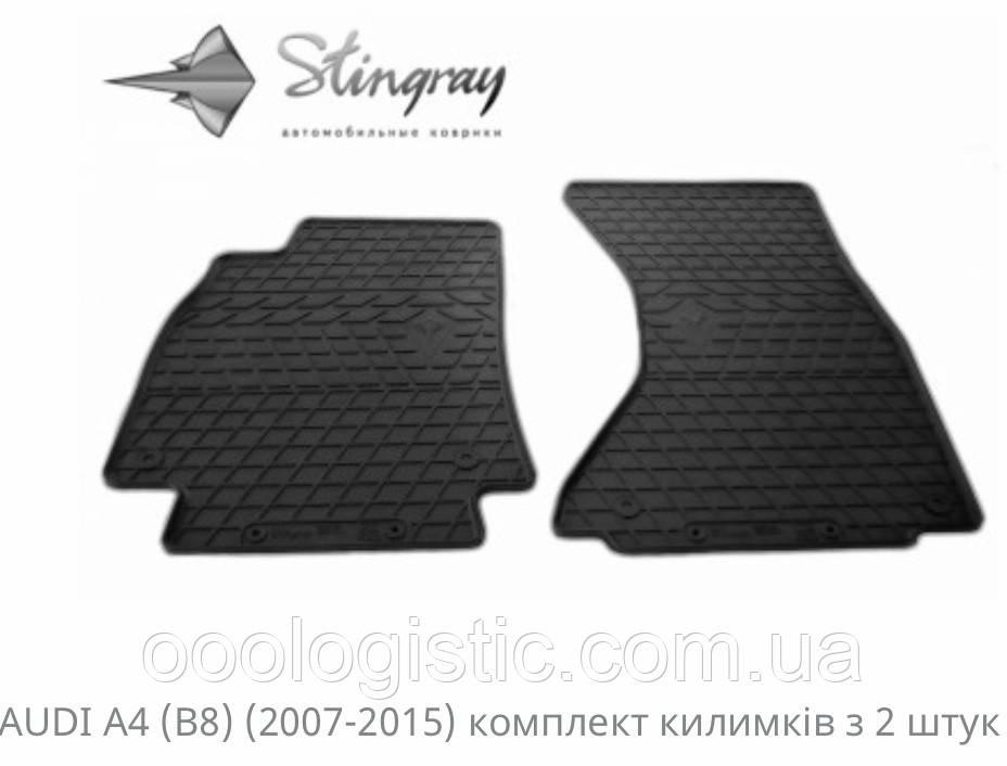 Автоковрики на Ауді А4( В8) 2007-2015 Stingray гумові 2 штуки