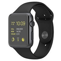 Apple Watch Sport 42mm Space Gray Aluminum Case with Sport Band Black