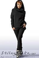 Женский теплый костюм Стиляга черный, фото 1