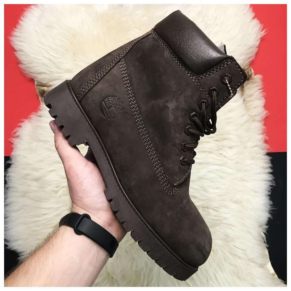 Чоловічі / жіночі зимові черевики Timberland Brown Fure Premium коричневі чоловічі черевики тімберленд зимові