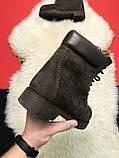 Чоловічі / жіночі зимові черевики Timberland Brown Fure Premium коричневі чоловічі черевики тімберленд зимові, фото 6