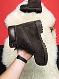 Чоловічі / жіночі зимові черевики Timberland Brown Fure Premium коричневі чоловічі черевики тімберленд зимові, фото 7