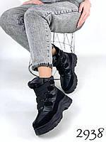 Женские зимние ботинки дутики на платформе 36,37,38 размер